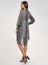 Платье шифоновое с асимметричным низом oodji #SECTION_NAME# (серый), 11913032/38375/2029A - вид 3