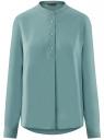 Блузка вискозная А-образного силуэта oodji #SECTION_NAME# (бирюзовый), 21411113B/42540/7302N