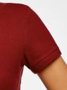 Поло базовое из ткани пике oodji для женщины (красный), 19301001-1B/46161/4900N