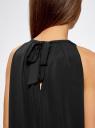Платье прямое с завязками на спине oodji #SECTION_NAME# (черный), 24005125/42788/2900N - вид 5
