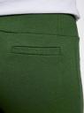 Брюки трикотажные спортивные oodji для женщины (зеленый), 16701010-3/46980/6900N