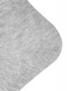 Комплект из трех пар укороченных носков oodji #SECTION_NAME# (серый), 57102418T3/47469/66 - вид 4