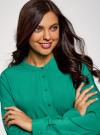 Блузка вискозная А-образного силуэта oodji #SECTION_NAME# (зеленый), 21411113-1B/48458/6D00N - вид 4
