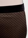 Брюки в горох с бархатным поясом oodji для женщины (коричневый), 11706202-1/32816/3929D