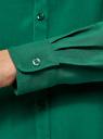 Блузка базовая из вискозы oodji для женщины (зеленый), 11411136B/26346/6E01N