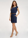 Платье вискозное без рукавов oodji #SECTION_NAME# (синий), 11910073B/26346/7900N - вид 6