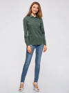 Рубашка базовая с нагрудными карманами oodji #SECTION_NAME# (зеленый), 11403222B/42468/6910G - вид 6