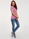 Футболка базовая приталенная oodji для женщины (фиолетовый), 14701005-7B/46147/4C00N