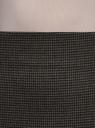 Юбка прямая с завышенной талией oodji для женщины (серый), 21601295-6/48593/2529O