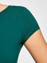 Платье миди с вырезом на спине oodji #SECTION_NAME# (зеленый), 24001104-5B/47420/6E00N - вид 5