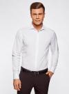Рубашка базовая из фактурной ткани oodji #SECTION_NAME# (белый), 3B110017M/47184N/1000N - вид 2