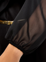 Платье из шифона с ремнем oodji для женщины (черный), 11900150-5/13632/2900N