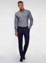 Рубашка хлопковая приталенная oodji #SECTION_NAME# (серый), 3B110007M/34714N/7500O - вид 6