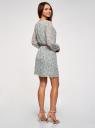 Платье из струящейся ткани с ремнем oodji для женщины (зеленый), 11900150-16B/42816/6543F