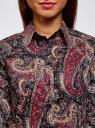 """Рубашка хлопковая с принтом """"пейсли"""" oodji #SECTION_NAME# (разноцветный), 21402212-1/45966/2966E - вид 4"""