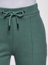 Брюки спортивные с надписью oodji для женщины (зеленый), 16701063/48881/6C29P - вид 5
