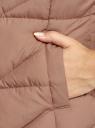 Жилет стеганый с капюшоном oodji для женщины (коричневый), 19400016-3B/48931/3700N