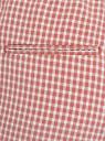 Брюки укороченные на завязках oodji для женщины (розовый), 11703098-1/49967/4112C