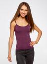 Майка базовая на тонких бретелях oodji для женщины (фиолетовый), 14306001-2B/46064/8800N