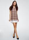 Платье прямого силуэта с декоративной вставкой oodji #SECTION_NAME# (розовый), 11911013-1/45879/4029C - вид 2