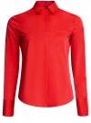 Рубашка базовая с одним карманом oodji #SECTION_NAME# (красный), 11406013/18693/4500N