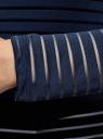 Лонгслив трикотажный прямого силуэта oodji для женщины (синий), 14201046-1/33520/7900N