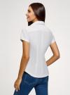 Рубашка хлопковая с вышивкой oodji #SECTION_NAME# (белый), 13K01004-6/14885/1019P - вид 3