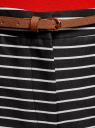Шорты хлопковые с ремнем oodji #SECTION_NAME# (черный), 11801117-2/33621/2912S - вид 4