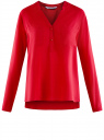 Блузка принтованная из вискозы oodji #SECTION_NAME# (красный), 11411049-1/24681/4500N