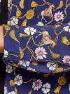 Блузка вискозная с завязками oodji #SECTION_NAME# (синий), 11411169/24681/7957O - вид 5