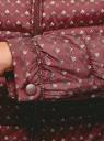 Куртка стеганая с круглым вырезом oodji для женщины (красный), 10203072B/46708/4912G
