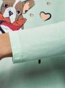 Платье трикотажное с завязками на спине oodji для женщины (зеленый), 59801021/46158/6519P