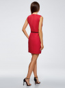 Платье льняное без рукавов oodji #SECTION_NAME# (розовый), 12C00002-1B/16009/4D00N - вид 3