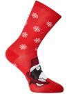 Комплект из трех пар хлопковых носков oodji для женщины (разноцветный), 57102902-4T3/10231/10 - вид 3