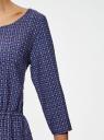 Платье вискозное с рукавом 3/4 oodji #SECTION_NAME# (синий), 11901153-2B/42540/7949G - вид 5
