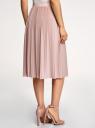 Юбка миди плиссированная oodji для женщины (розовый), 14100072/46609/4B01X