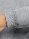 Свитшот свободного силуэта с принтом oodji для женщины (серый), 14808061-4/47999/2052Z