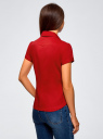 Рубашка хлопковая с коротким рукавом oodji #SECTION_NAME# (красный), 13K01004-1B/14885/4501N - вид 3