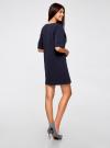 Платье в рубчик свободного кроя oodji #SECTION_NAME# (синий), 14008017/45987/7900N - вид 3