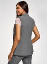 Жилет приталенный базовый oodji для женщины (серый), 12300099-10B/14917/2500M