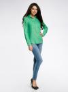 Рубашка хлопковая свободного силуэта oodji #SECTION_NAME# (зеленый), 11411101B/45561/6500N - вид 6