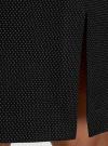Юбка прямого кроя в мелкий горошек oodji #SECTION_NAME# (черный), 21601236-4/42343/2912D - вид 5