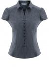 Блузка принтованная из легкой ткани oodji #SECTION_NAME# (синий), 21407022-9/12836/7910D