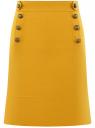 Юбка прямая с декоративными пуговицами oodji #SECTION_NAME# (желтый), 21600305/46430/5700N
