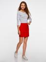 Комплект трикотажных юбок (3 штуки) oodji для женщины (красный), 14101001T3/46159/4500N