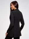 Жилет удлиненный приталенный oodji для женщины (черный), 12300099-4/18600/2900N - вид 3