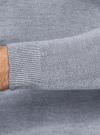 Джемпер базовый с круглым воротом oodji #SECTION_NAME# (синий), 4B112011M/49683N/7000O - вид 5