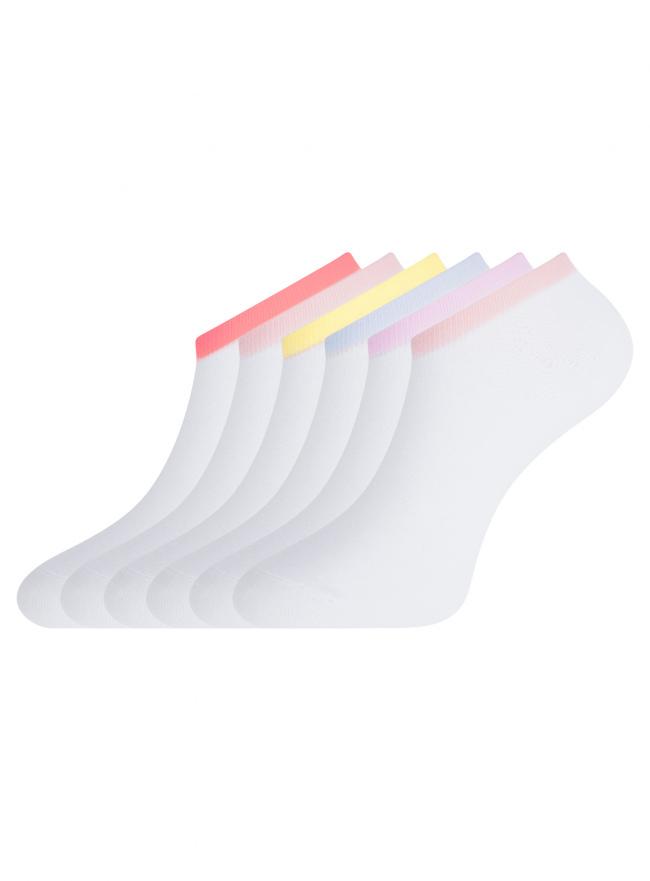 Комплект из шести пар носков oodji для женщины (разноцветный), 57102602T6/48022/1