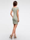 Платье из фактурной ткани с вырезом-лодочкой oodji #SECTION_NAME# (зеленый), 14001117-12B/42588/6000N - вид 3