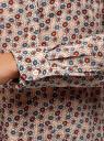Блузка вискозная прямого силуэта oodji #SECTION_NAME# (бежевый), 21400394-1B/39658N/3345F - вид 5